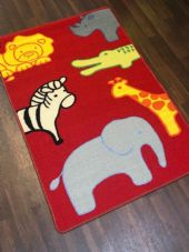 NEW ZOO ANIMAL EDUCATIONAL SCHOOL HOME MAT RUG 80X120CM MULTICOLOUR NON SLIP